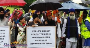 Hundereds of Australian Sikhs protest to Indian Consulate Melbourne to demand release of Sikh prisoners