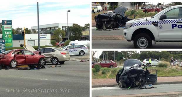 Perth Taxi driver killed in three-car Kelmscott crash